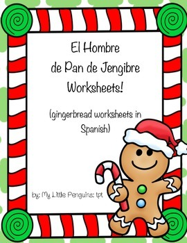 Spanish Gingerbread man worksheets
