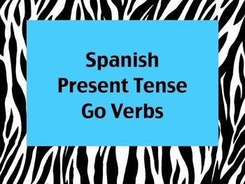 Spanish Go Verbs (Hacer, Venir, etc.) PowerPoint Slideshow