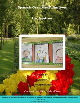 Spanish Grammar Adjectives Lesson- Los Adjetivos Powerpoin