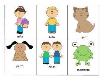 Spanish Grammar Game (Present Progressive, Pronouns, and A