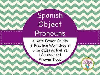 Spanish Object Pronoun Activities