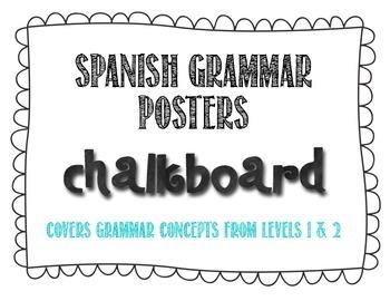 Spanish Grammar Posters - Chalkboard Theme