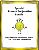 Spanish Subjunctive Bundle ~ El subjuntivo (Readings, Hand