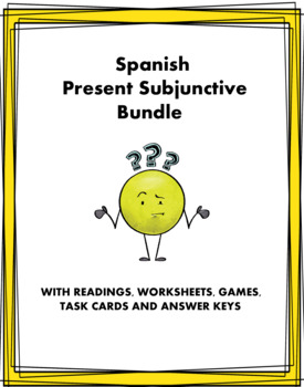 Spanish Subjunctive Bundle ~ El subjuntivo