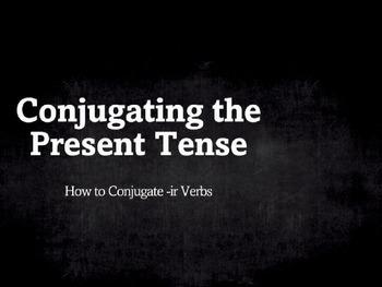 Spanish Grammar Presentation: Conjugating the Present Tense -ir