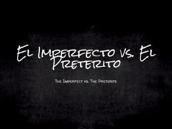Spanish Grammar Presentation: Imperfect vs. Preterite