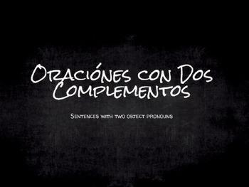 Spanish Grammar Presentation: Sentences with Two Object Pronouns