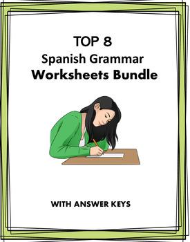 Spanish Beginner Worksheets Bundle