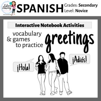 Spanish Greetings Interactive Notebook Activities
