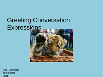 Spanish Greetings Introduction PowerPoint