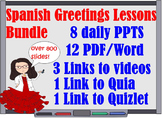 _Spanish 1 Greetings Lessons Bundle for First Week of Scho