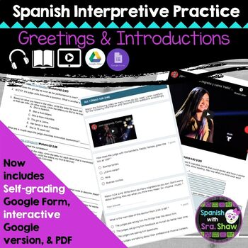 Spanish Greetings and Introductions Interpretive Listening
