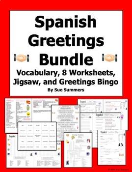 Spanish Greetings and Leave Takings Bundle of 10