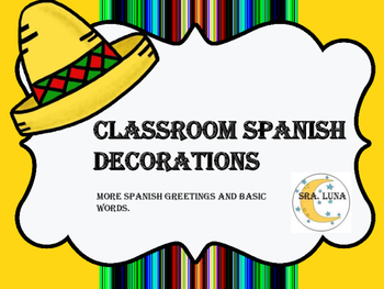 Spanish class decoration,greetings and basic words posters