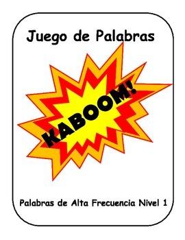 Spanish HFW KABOOM en Español Palabras de Alta Frecuencia