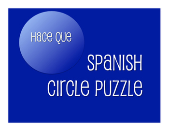 Spanish Hace Que Circle Puzzle