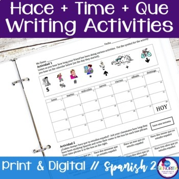 Spanish Hace Que Writing Activities