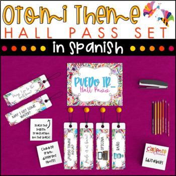 Spanish Hall Pass - Otomi Theme