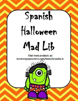 Spanish Halloween Mad Lib
