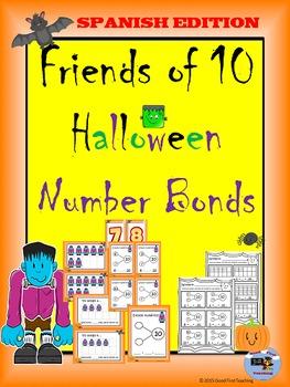 Spanish Halloween Number Bonds