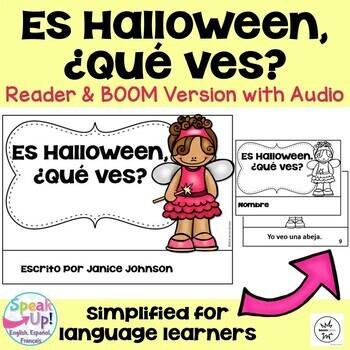 Spanish Halloween Reader & Cut/Paste ~ Es Halloween. ¿Qué