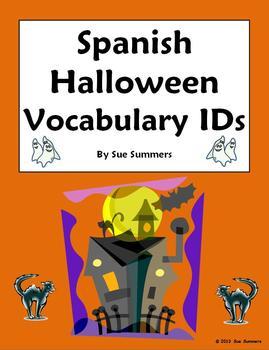 Spanish Halloween Vocabulary 18 Images to Identify - El Di