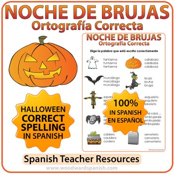 Spanish Halloween Vocabulary Spelling Activity