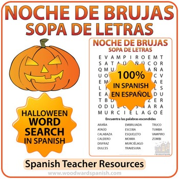 Spanish Halloween Word Search