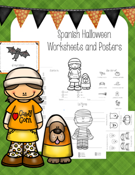 Spanish Halloween Mini-book, I have...who has, Worksheets