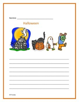 Spanish Halloween Writing Freebie