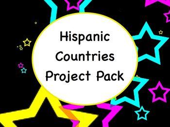 Spanish Hispanic Country Project Packet - Handout, Rubrics, etc.