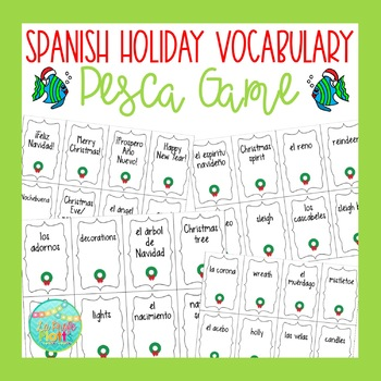 Spanish Holiday Vocabulary ¡Pesca! (Go Fish) Game