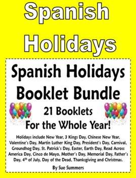 Spanish Holidays 21 Booklet Bundle for All Year - 88 Pages Total!