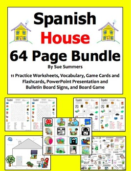 Spanish House Bundle of 14 - 64 Pages of Worksheets, Games
