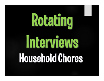 Spanish Household Chores Rotating Interviews