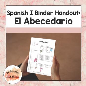 Spanish I Binder Handout: Alphabet