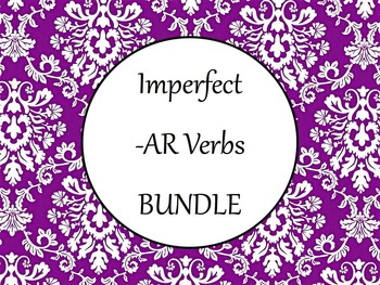 Spanish Imperfect -AR Verbs BUNDLE- PowerPoint, Worksheets