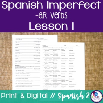 Spanish Imperfect -AR Verbs Lesson