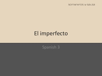 Spanish Imperfect (El imperfecto) Powerpoint PDF