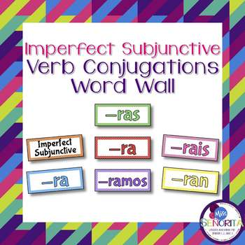Spanish Imperfect Subjunctive Verb Conjugations Bulletin B