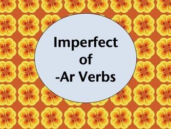 Spanish Imperfect of -AR Verbs PowerPoint Slideshow Presentation