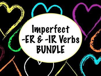 Spanish Imperfect of -ER & -IR Verbs BUNDLE- Slideshow, Wo