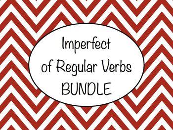Spanish Imperfect of Regular Verbs BUNDLE- Slideshows, Wor