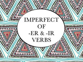 Spanish Imperfect of -ER & -IR Verbs PowerPoint Slideshow