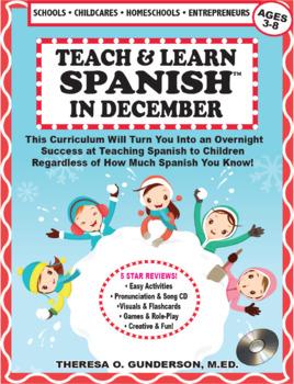 Spanish In December Lesson Plan & CD (Ages 2-10) (Digital