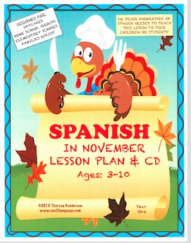 Spanish In November: Lesson Plan & CD (Ages 2-10) (Digital