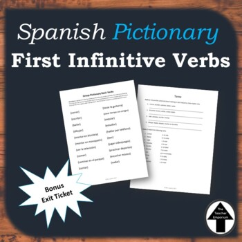 Infinitive Verbs Spanish Game Pictionary Review Activity