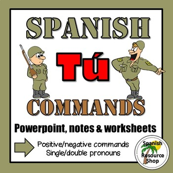 Spanish Informal Commands Grammar Notes and Practice Power