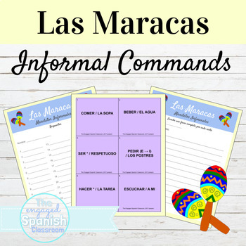 Spanish Informal Commands Maracas game: Los Mandatos Informales