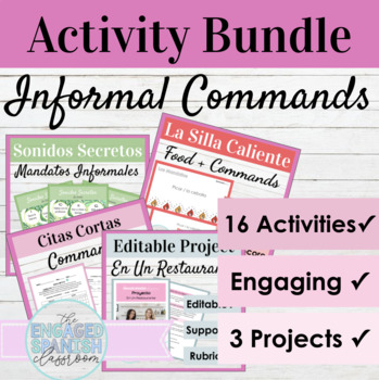 Spanish Informal Commands Bundle: Notes, Practice, Quiz, a
